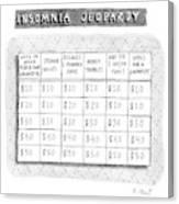 Insomnia Jeopardy Canvas Print