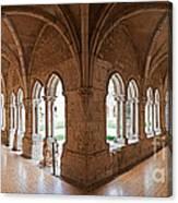 13th Century Gothic Cloister Canvas Print