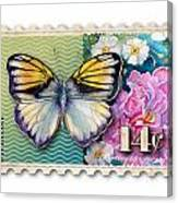 14 Cent Butterfly Stamp Canvas Print