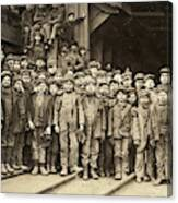 Hine Child Labor, 1911 Canvas Print