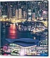 Hong Kong At Night Canvas Print