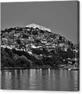 Molyvos Village During Dusk Time Canvas Print