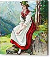 Old French And German Postcards From The Begining Of The 1900 Canvas Print