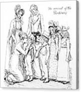 Scene From Pride And Prejudice By Jane Austen Canvas Print