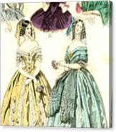 Women's Fashion, 1842 Canvas Print