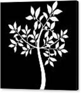 Art Tree Silhouette Canvas Print