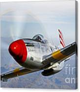 A P-51d Mustang In Flight Canvas Print