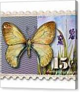 15 Cent Butterfly Stamp Canvas Print