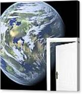 Door To New World Canvas Print