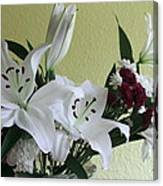 Fresh Cut Flowers Canvas Print