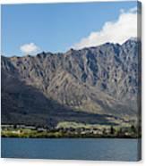 Lake With Mountain Range Canvas Print