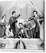 Lincoln Assassination Canvas Print