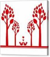 Valentine Tree Canvas Print