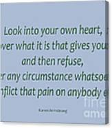 156- Karen Armstrong Canvas Print
