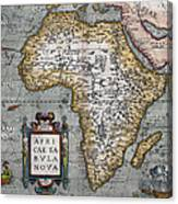 1584 Map Of Mysterious Africa Canvas Print