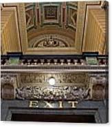 Interior Of St Georges Hall Liverpool Uk Canvas Print