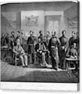 Lee's Surrender, 1865 Canvas Print