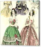 Women's Fashion, 1842 Canvas Print