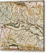 1644 Jansson Map Of Alsace Basel And Strasbourg Geographicus Alsatiasuperior Jansson 1644 Canvas Print