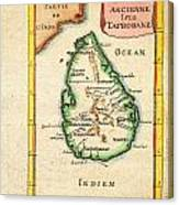 1686 Mallet Map Of Ceylon Or Sri Lanka Taprobane Geographicus Taprobane Mallet 1686 Canvas Print