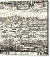 1697 Pufendorf View Of Krakow Cracow Poland Canvas Print