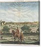 1698 De Bruijin View Of Bethlehem Palestine Israel Holy Land Canvas Print