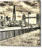 River Thames View Canvas Print