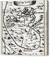 1719 Mallet Map Of The Source Of The Nile Ethiopia Abyssinia Geographicus Nil Mallet 1719 Canvas Print