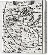 1719 Mallet Map Of The Source Of The Nile Ethiopia Canvas Print