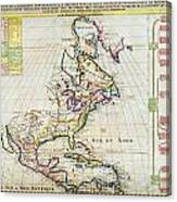 1720 Chatelain Map Of North America Geographicus Amerique Chatelain 1720 Canvas Print