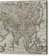 1745 Asia Map Canvas Print