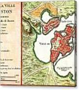 1756 Bellin Map Of Boston Massachusetts Geographicus Boston2 Bellin 1756 Canvas Print