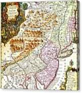 1756 Lotter Map Of Pennsylvania New Jersey New York Geographicus Pensylvanianovajersey Lotter 1756 Canvas Print