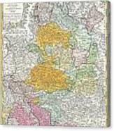 1761 Homann Heirs Map Of Westphalia  Canvas Print