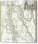1762 Bonne Map Of Egypt  Canvas Print