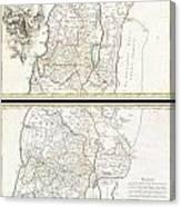 1763 De Lisle Map Of The Holy Land Canvas Print