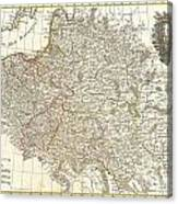 1771 Zannoni Map Of Poland And Lithuania Canvas Print