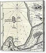 1773 Bellin Map Of The Cape Of Good Hope Capetown South Africa Canvas Print