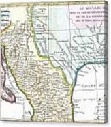 Map Of Texas Louisiana.1780 Bonne Map Of Texas Louisiana And New Mexico By Paul Fearn