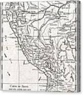 1780 Raynal And Bonne Map Of Peru Canvas Print