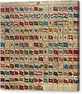 1783 World Naval Flags Canvas Print