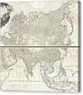 1784 D Anville Wall Map Of Asia Canvas Print