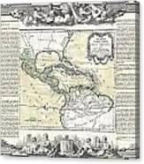 1788 Brion De La Tour Map Of Mexico Central America And The West Indies Canvas Print