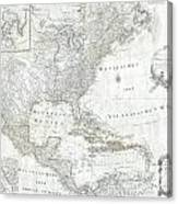 1788 Schraembl  Pownall Map Of North America And The West Indies Canvas Print