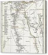 1794 Anville Map Of Ancient Egypt  Canvas Print