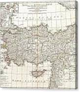 1794 Anville Map Of Asia Minor In Antiquity Canvas Print