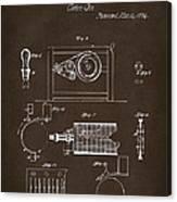 1794 Eli Whitney Cotton Gin Patent 2 Espresso Canvas Print