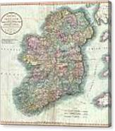 1799 Cary Map Of Ireland  Canvas Print