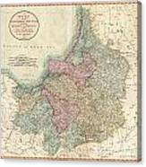1799 Cary Map Of Prussia And Lithuania  Canvas Print