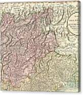 1799 Cary Map Of Tyrol Canvas Print